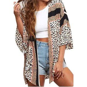 Kimono Cardigan Loose Cover Up Casual Blouse Top